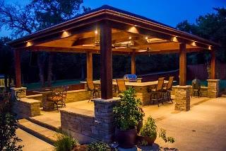 Outdoor Kitchen Pavilion Designs Arbors S Wraparound Granite Craftsman