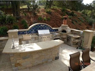 Outdoor Kitchen with Pizza Oven Designs Featuring S Fireplaces and Other