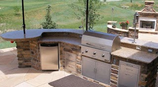 Bbq Outdoor Kitchen Islands Grills Tips Homes Ideas Design How One Can Set