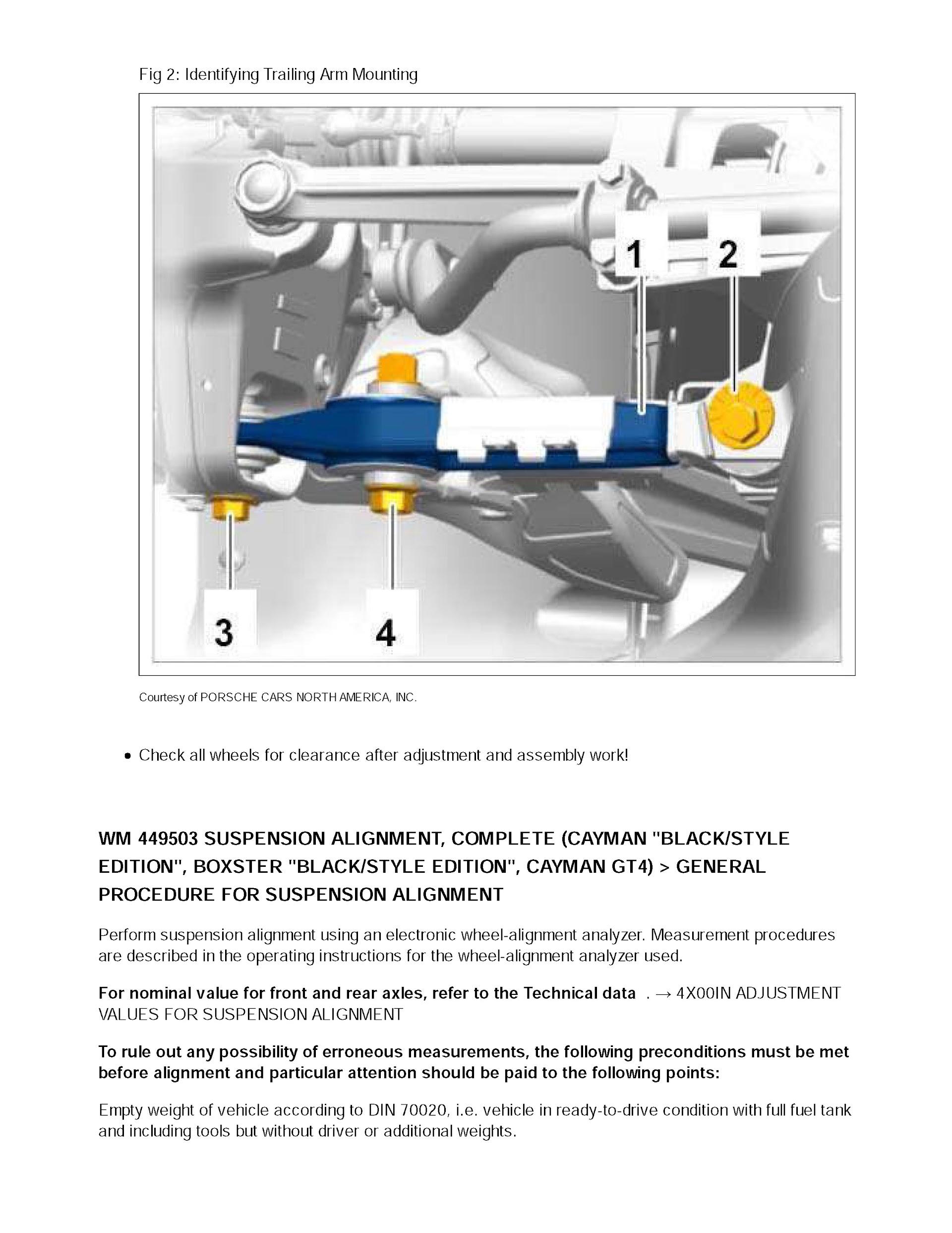 2013-2016 Porsche Boxter/Cayman 981, OEM Service and Repair Manual