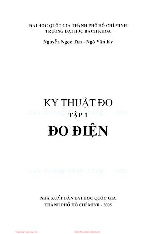ĐHQG.Kỹ Thuật Đo Tập 1-Đo Điện - Nguyễn Ngọc Tân & Ngô Văn Ky, 342 Trang.pdf