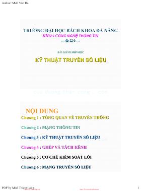 Slide.Bài Giảng Môn Học Kỹ Thuật Truyền Số Liệu - Mai Văn Hà, 199 Trang.pdf