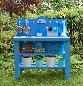 Outdoor Toy Kitchen DIY Play From a Shelf