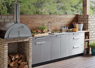 Outdoor Kitchen with Charcoal Grill S The Home Depot
