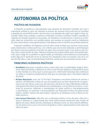 AUTONOMIA DA POLITICA