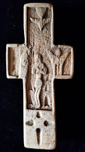 Cruce din lemn sculptata, 9.5 x 4.5 cm