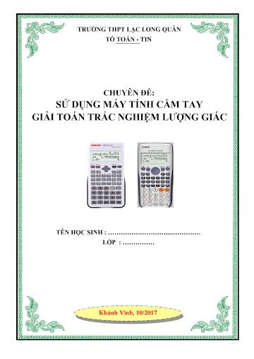 Sử dụng máy tính cầm tay giải nhanh trắc nghiệm lượng giác .pdf