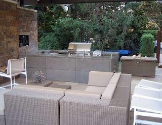Concrete Countertops for Outdoor Kitchen Contemporary Patio New
