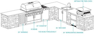 Outdoor Kitchen Layout Plans Kalamazoo Gourmet