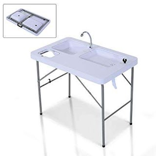 Outdoor Camping Kitchen with Sink Amazoncom New Mtng Portable Folding Fish Cleaning Cutting Table