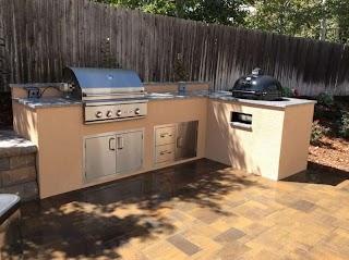 Outdoor Kitchen Stucco Finish Ofordableinenglewoodcowithgranitecountertops