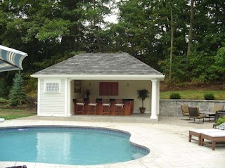 Pool House Designs with Outdoor Kitchen S and S
