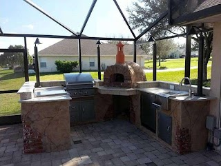 Outdoor Kitchens with Pizza Oven Kitchen Wood Fired