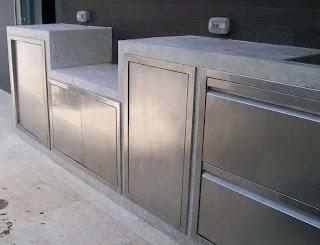 Stainless Steel Outdoor Kitchen Doors Entertaining