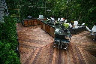 Outdoor Kitchen Deck 3 Contemporary Atlanta By Cabinets Of