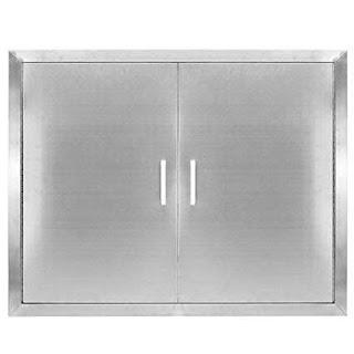 Stainless Steel Outdoor Kitchen Doors Amazoncom Seeutek Bbq Access Door 31w X 24h
