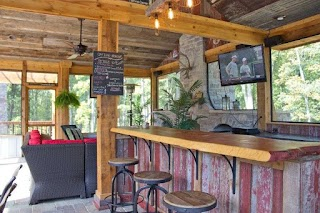 Rustic Outdoor Kitchen Chic S and Bar Design in Country Style Design
