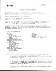 SINTEL M3 Digital Alarm Clock Kit