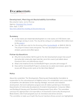 Development, Planning and Sustainability Committee