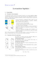 Cours Sur le Transistor Bipolaire Electronique General.pdf