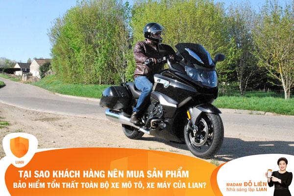 Vì sao khách hàng nên mua sản phẩm bảo hiểm Tổn thất toàn bộ xe mô tô, xe máy của LIAN?