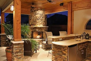 Outdoor Kitchen Lighting Tips for Petersons Landscape Maintenance