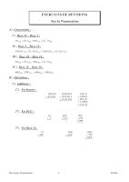 Exercices Corrigés en Systeme de Numération