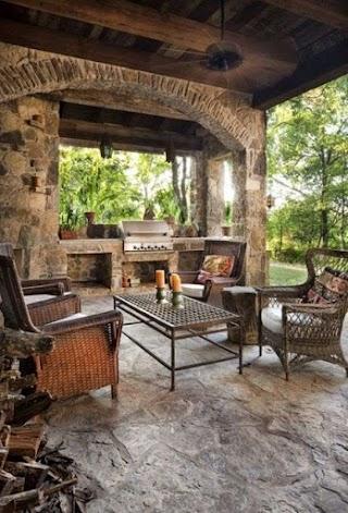 Italian Outdoor Kitchen Design Ideas Courtyard Design