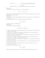 Td sur L'Approximation et Interpolation polynomiale Epsto 2012.pdf