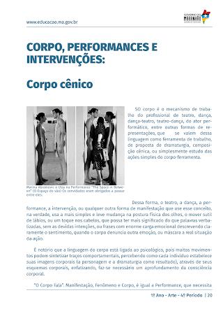 CORPO, INTERVENÇÃO, PERFORMANCE E HAPPENING