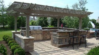 Pergola Outdoor Kitchen S Italian 1675 A