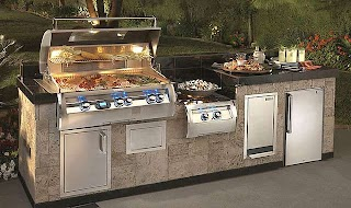 Complete Outdoor Kitchen a Fire Magic with Power Burner and Storage