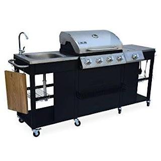 Outdoor Kitchen Equipment UK Alices Garden Dartagnan Gas Barbecue with 4