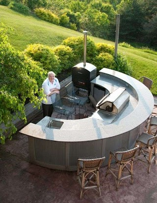 Portable Outdoor Kitchen Islands Marvelous with Half Round Tops