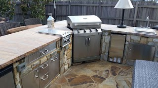 Outdoor Kitchen with Freestanding Grill Can I Use My As a Builtin Revolutionary