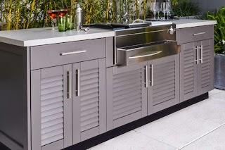 Stainless Steel Outdoor Kitchen Cabinets Brown Jordan S