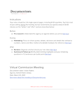 Virtual Commission Meeting