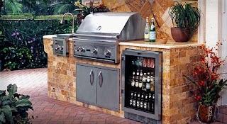 Outdoor Kitchen Bbq with Fridge Refrigerators Myshopcom Patio Ideas