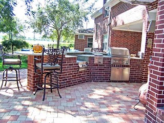 Outdoor Brick Kitchen Designs S Using Concrete and Two Common Options