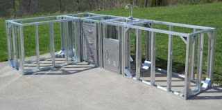 Steel Frame Outdoor Kitchen Charming Metal Framing Kits Builtin with Brushed