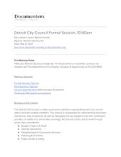 Detroit City Council Formal Session, 10:00am