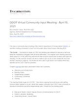 DDOT Virtual Community Input Meeting - April 15, 2021