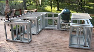 Building with Metal Studs Outdoor Kitchen Cheap Custom Viking