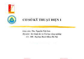 Slide.Cơ Sở Kỹ Thuật Điện 1 (Hà Nội 2007) - Ths.Nguyễn Việt Sơn, 217 Trang.pdf