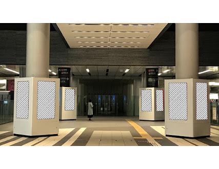 TOQサイネージピラー 東横線渋谷駅ヒカリエ改札前