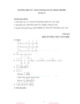 Trường Điện Tử - Nhiều Tác Giả, 105 Trang.pdf