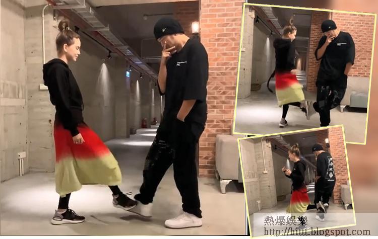 昆凌跳舞跳得好好睇,彈彈吓勁活潑。而周董就一直單手插袋。