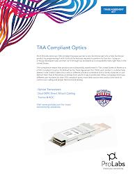 TAA Compliant Optics US Letter