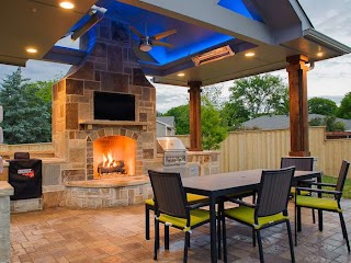 Dallas Outdoor Kitchens Gallery of Living Fireplaces Pools