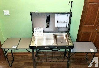 Outdoor Camping Kitchen with Sink Coleman Vintage Pack Portable